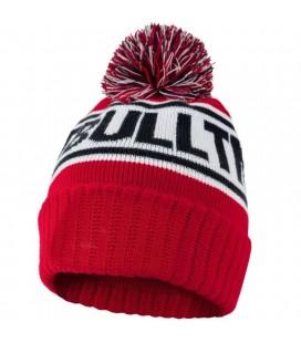 Czapka Pit Bull model Fleming II zimowa czerwona