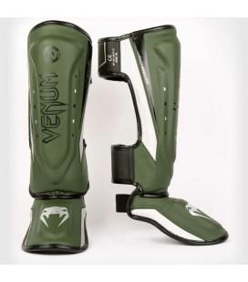 Ochraniacze nóg Venum Elite Evo Khaki/silver