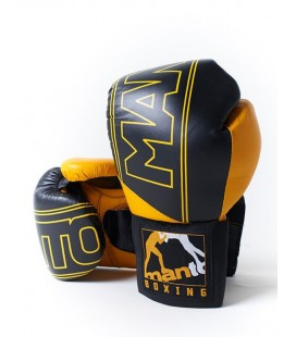 Rękawice bokserskie MANTO skórzane model PUNCHER czarne