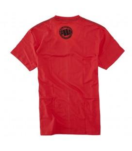 Koszulka Pit Bull West Coast model Logo czerwona