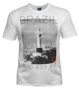 Koszulka Bad Boy mode Brazil kolor biały