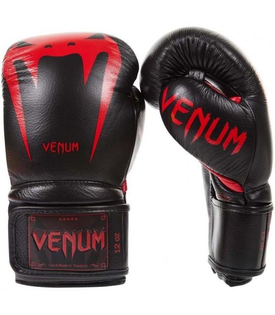 """Rękawice bokserskie Venum model """"GIANT 3.0"""" Black Devil skóra naturalna"""