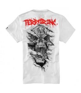 Koszulka Pit Bull West Coast model Terror Skull biała