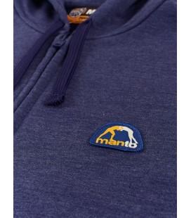 Bluza rozpinana MANTO z kapturem model Emblem kolor czarny