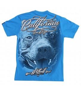 Koszulka Pit Bull West Coast model California Dog niebieska