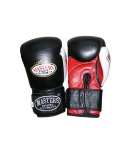 Rękawice bokserskie skóra bydlęca , GEL, MASTERS