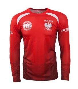 Koszulka treningowa Mesh Pit Bull West Coast model Polska czerwona DR