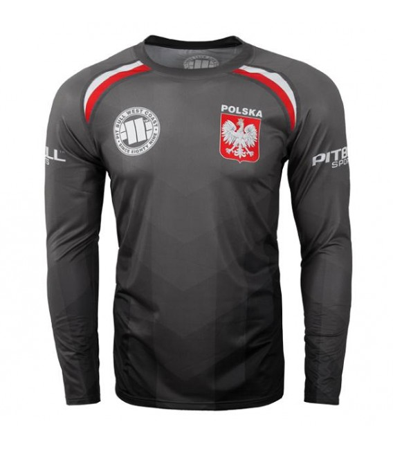 a6dd00d72 Koszulka treningowa Mesh Pit Bull West Coast model Polska Black długi rekaw