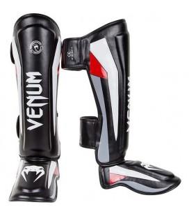 "Venum ""Elite"" Ochraniacze na piszczele i stopy - skóra typu   Skintex"