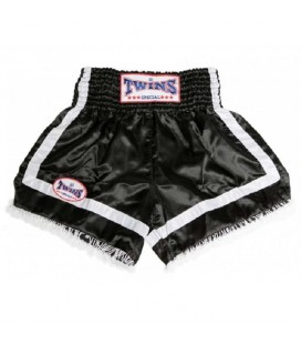 Spodenki TWINS Muay Thai kolor czarno bialy