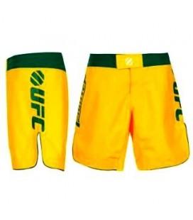 Spodenki do walk UFC kolor żółto - zielone