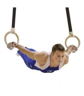 Kółka gimnastyczne drewniane do ćwiczenia z masą własną