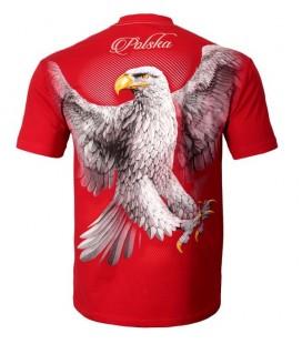 Koszulka Pit Bull West Coast model KSW 37 Eagle Small Logo czerwona