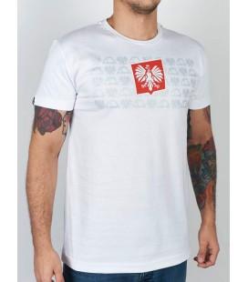 Koszulka MANTO model Herb biała