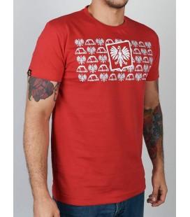 Koszulka MANTO model Herb kolor czerwony