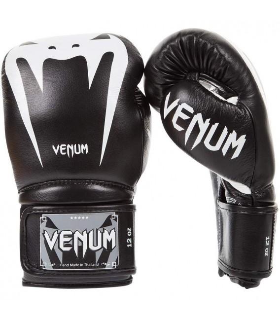 """Rękawice bokserskie Venum model """"GIANT 3.0"""" Black/Ice skóra naturalna"""