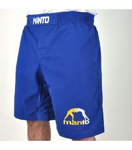 Spodenki MANTO model LOGO RipStop 2 kolor niebieski