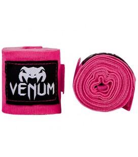 Bandaże bokserskie - owijki dł 2,5m Venum różowe