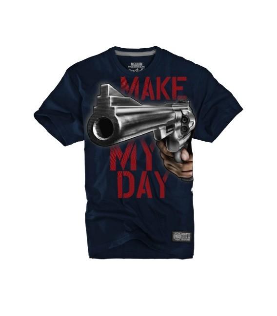 Koszulka Pit Bull West Coast model Make My Day 17 granatowa