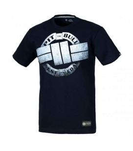Koszulka Pit Bull West Coast model Steel Logo ciemny granat
