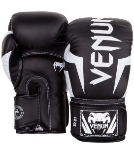 Rękawice bokserskie Venum Elite czarno białe