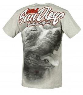 Koszulka Pit Bull West Coast model San Diego Dog szara