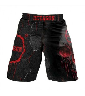 Spodenki mma Octagon model skull red
