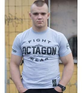 Koszulka Octagon Basic Fight Wear szara melanż