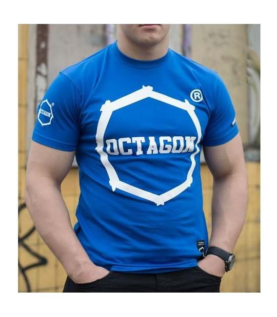 Koszulka Octagon model klasyk niebieska