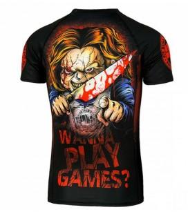Rashguard Pit Bull  model   Wanna Play Games krótki  rękaw