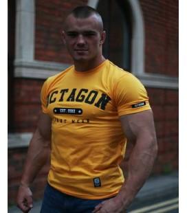 Koszulka Octagon model Octagon Fight Wear est. 2010 żółty  + gratis