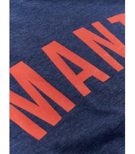 Koszulka MANTO model ARC granatowy melanz