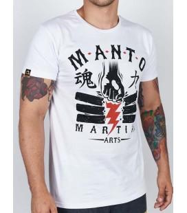Koszulka MANTO model POWER kolor biały