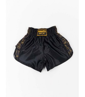 Spodenki Manto Muay Thai FISTS czarne