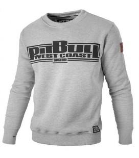 Bluza crewneck Pit Bull model Boxing 17 szara