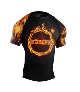 Rashguard Octagon model In Fire krótki rękaw