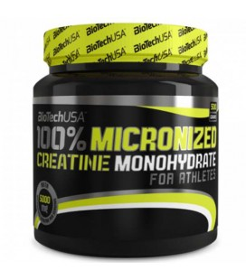 Biotech 100% Micronized creatine Monoydrate 500g