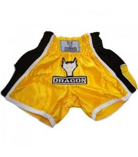 Spodenki Dragon model  Muay Thai żółto czarne