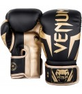 Rękawice do boksu Venum Elite czarno złote