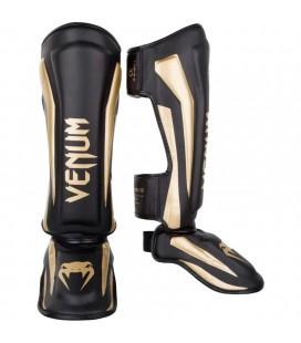 "Ochraniacze nóg Venum ""Elite"" czarno złote"