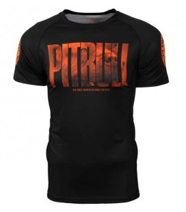 Rashguard Pit Bull Orange Dog