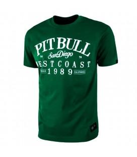 Koszulka Pit Bull model Oldschool Logo zielona