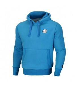 Bluza z kapturem Pit Bull model Small Logo niebieska