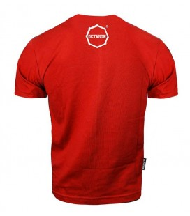 Koszulka Octagon model Klasyk czerwona