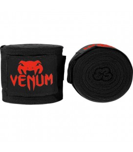 Bandaże  bokserskie - Kontact dł 4m Venum czarne