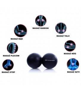 Piłka podwójna do Masażu Lacrosse DBX Bushido